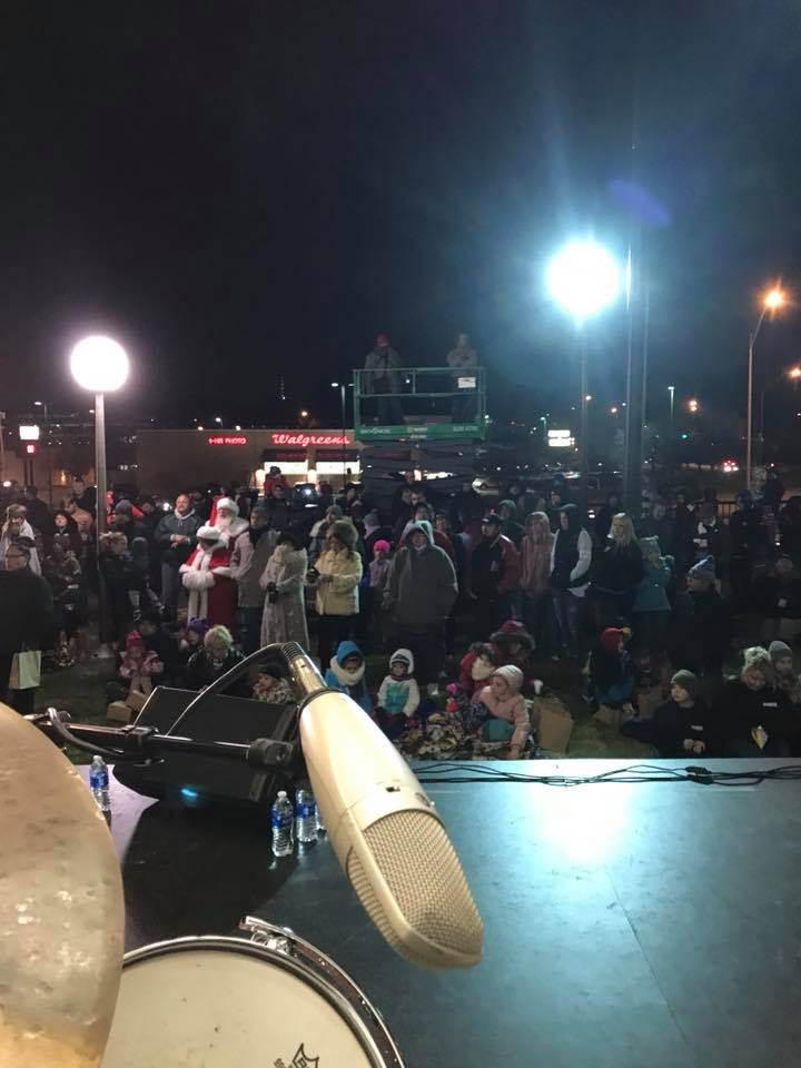 The crowd at the Salvation Army Tree Lighting