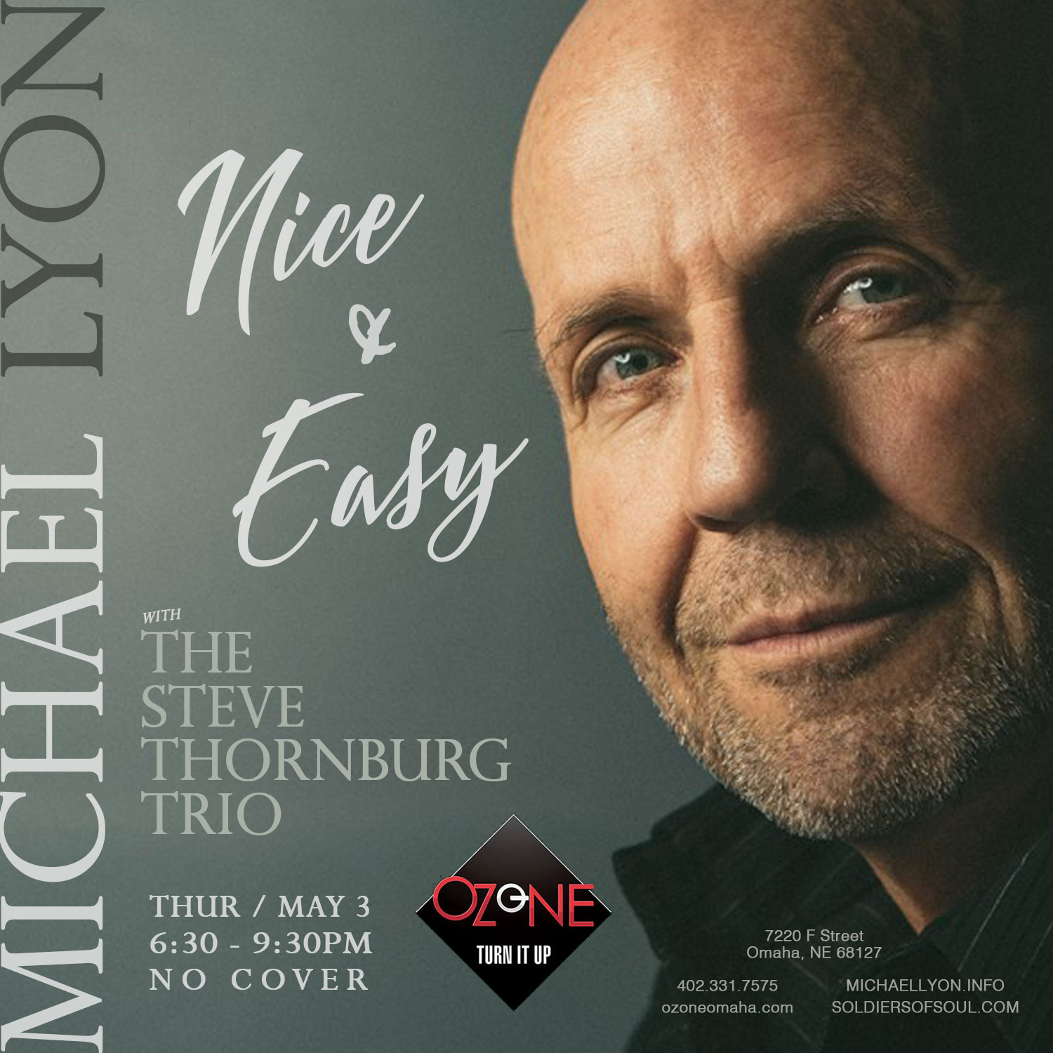 Michael Lyon with The Steve Thornburg Trio at The Ozone